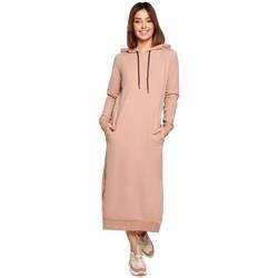Textil Mulher Vestidos compridos Be K092 Vestido de tiracolo de ombro - preto