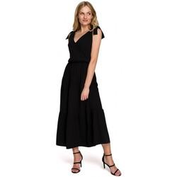 Textil Mulher Vestidos compridos Makover K092 Vestido de tiracolo de ombro - lavanda
