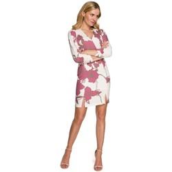Textil Mulher Vestidos curtos Makover K096 Mini vestido com top de embrulho - modelo 3