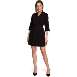 Textil Mulher Vestidos curtos Style S254 Blazer vestido com cinto de fivela - verde