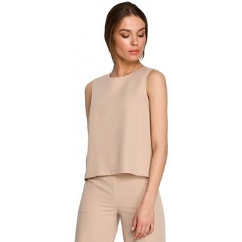 Textil Mulher Tops / Blusas Style S257 Blusa sem mangas - preto