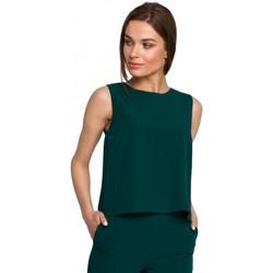 Textil Mulher Tops / Blusas Style S257 Blusa sem mangas - azul real