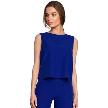 Textil Mulher Tops / Blusas Style S258 Vestido blazer sem mangas - bege
