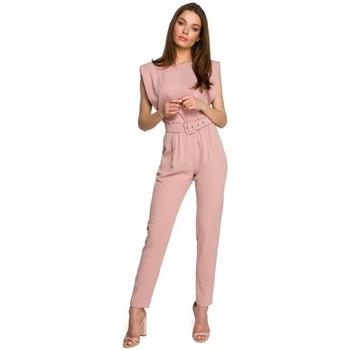 Textil Mulher Macacões/ Jardineiras Style S260 Blusa sem mangas com ombros acolchoados - preto