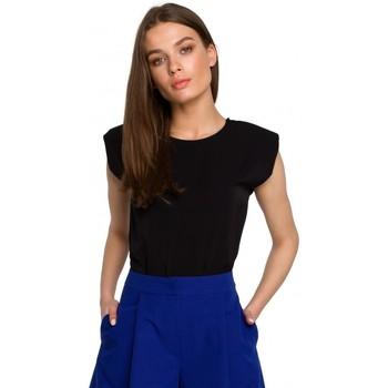 Textil Mulher Tops / Blusas Style S260 Blusa sem mangas com ombros acolchoados - azul