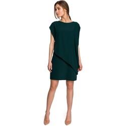 Textil Mulher Vestidos curtos Style S262 Vestido em camadas - verde