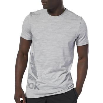 Textil Homem T-Shirt mangas curtas Reebok Sport  Cinza