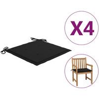Casa Almofada de cadeira VidaXL Almofadão para cadeira de jardim 50 x 50 x 4 cm Preto