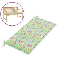 Casa Almofada de cadeira VidaXL Almofadão de banco 100 x 50 x 4 cm Multicolor
