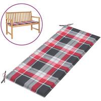 Casa Almofada de cadeira VidaXL Almofadão de banco 120 x 50 x 4 cm Multicolor