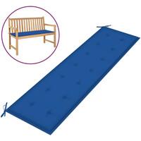 Casa Almofada de cadeira VidaXL Almofadão de banco 180 x 50 x 4 cm Azul