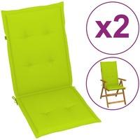 Casa Almofada de cadeira VidaXL Almofadão para cadeira de jardim 120 x 50 x 4 cm Verde