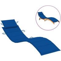 Casa Almofada de cadeira VidaXL Almofadão para espreguiçadeira Azul