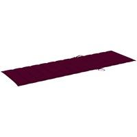 Casa Almofada de cadeira VidaXL Almofadão para espreguiçadeira 200 x 70 x 4 cm Vermelho