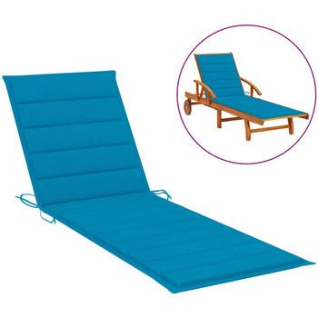 Casa Almofada de cadeira VidaXL Almofadão para espreguiçadeira 200 x 70 x 4 cm Azul