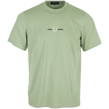 Textil Homem T-Shirt mangas curtas Fred Perry Embroidered T-Shirt Verde
