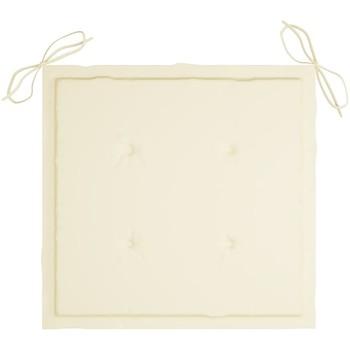Casa Almofada de cadeira VidaXL Almofadão para cadeira de jardim 40 x 40 x 4 cm Creme
