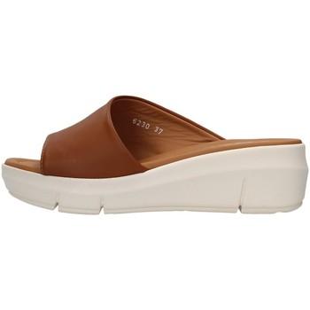 Sapatos Mulher Chinelos Melluso R80411 Castanho