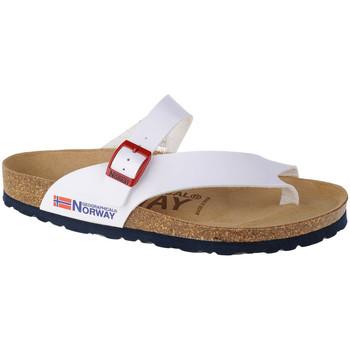 Sapatos Mulher Chinelos Geographical Norway Sandalias Infradito Donna Blanc