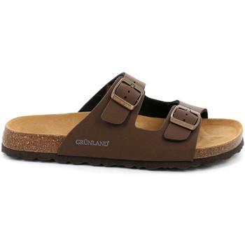 Sapatos Homem Chinelos Grunland CB3012 Castanho