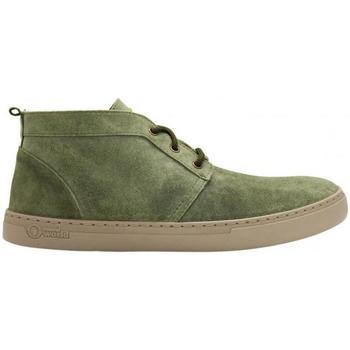 Sapatos Homem Botas baixas Natural World Botas Alpe 6762 Kaki Verde