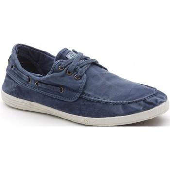 Sapatos Homem Sapato de vela Natural World Sapatos 303E Mar Azul