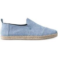 Sapatos Homem Alpargatas Toms Deconstructed Alpargatas Blue Slub Chambray Azul
