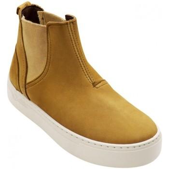 Sapatos Mulher Botins Natural World Botas Kira 6185 Golden Cinza