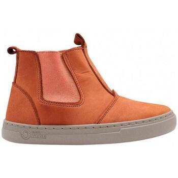 Sapatos Criança Sapatilhas Natural World Botas Criança Ada 6982 Bronce Laranja