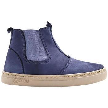 Sapatos Criança Sapatilhas Natural World Botas Criança Ada 6982 Marino Amarelo