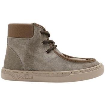 Sapatos Criança Sapatilhas Natural World Botas Criança Nil 6954 Castano Castanho
