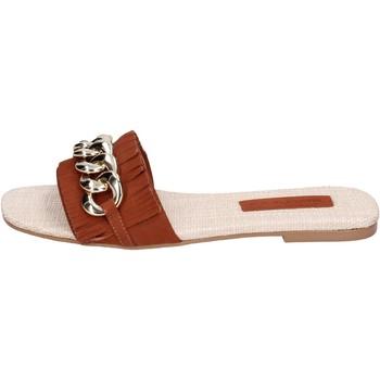 Sapatos Mulher Chinelos Miss Unique BH145 Castanho