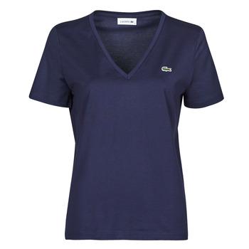 Textil Mulher T-Shirt mangas curtas Lacoste LOUIS Marinho