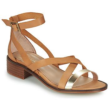 Sapatos Mulher Sandálias Casual Attitude COUTIL Camel / Dourado