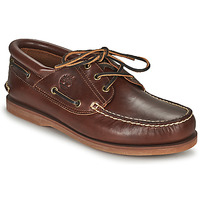 Sapatos Sapato de vela Timberland Classic Boat 3 Eye Padded Collar Castanho