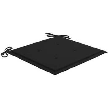 Casa Almofada de cadeira VidaXL Almofadão para cadeira de jardim 40 x 40 x 4 cm Preto