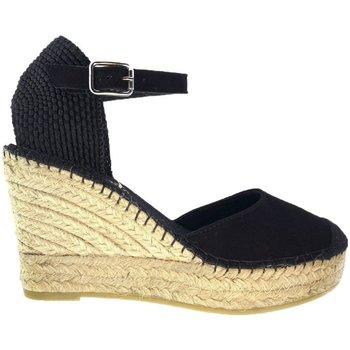 Sapatos Mulher Alpargatas Vidorreta Cuña  11600 Ante Negro Preto