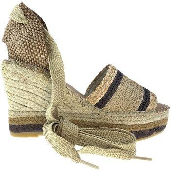 Sapatos Mulher Alpargatas Vidorreta Cuña  11400 Camel Castanho