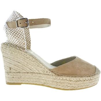 Sapatos Mulher Alpargatas Vidorreta Cuña  11600 Ante Piedra Cinza