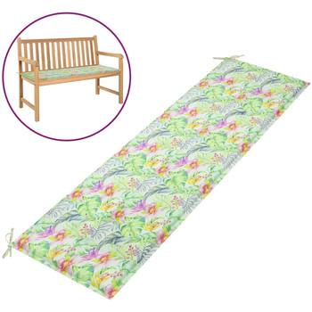 Casa Almofada de cadeira VidaXL Almofadão de banco 180 x 50 x 4 cm Multicolor