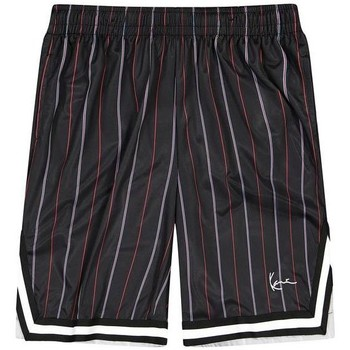 Textil Homem Shorts / Bermudas Karl Kani Short  Small Signature Pinstripe Mesh noir/bleu/rouge