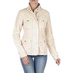 Textil Mulher Jaquetas Gant COTTON LINEN 4PKT JACKET Bege