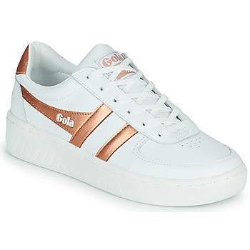 Sapatos Mulher Sapatilhas Gola GOLA GRANDSLAM Branco / Bronze