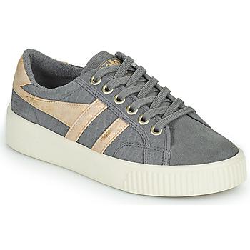Sapatos Mulher Sapatilhas Gola BASELINE MARK COX MIRROR Cinza / Ouro