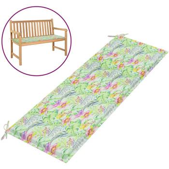 Casa Almofada de cadeira VidaXL Almofadão de banco 150 x 50 x 4 cm Multicolor