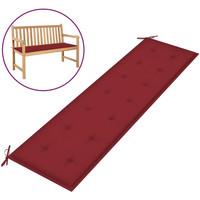 Casa Almofada de cadeira VidaXL Almofadão de banco 180 x 50 x 4 cm Vermelho