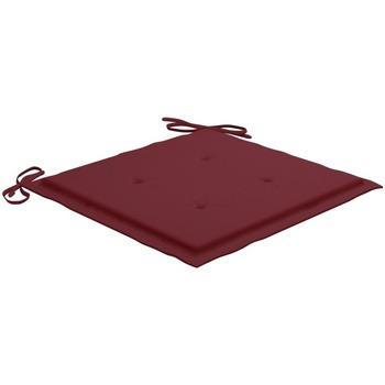 Casa Almofada de cadeira VidaXL Almofadão para cadeira de jardim 40 x 40 x 4 cm Vermelho