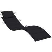 Casa Almofada de cadeira VidaXL Almofadão para espreguiçadeira Preto