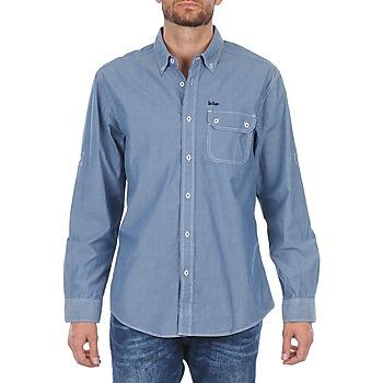 Textil Homem Camisas mangas comprida Lee Cooper Greyven Azul