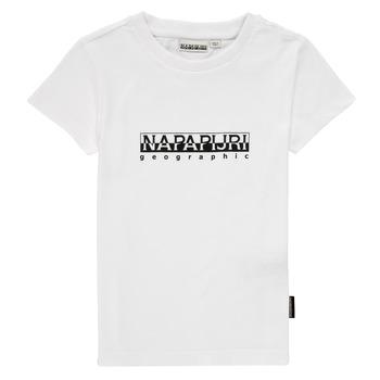 Textil Rapaz T-Shirt mangas curtas Napapijri S-BOX SS Branco